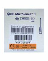 BD MICROLANCE 3, G25 5/8, 0,5 mm x 16 mm, orange  à ROQUETTES