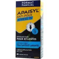 Apaisyl Anti-poux Xpress 15' Lotion antipoux et lente 100ml+peigne à ROQUETTES