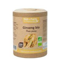 Nat&Form Eco Responsable Ginseng rouge Bio Gélules B/200 à ROQUETTES